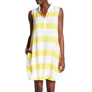 Beach Lunch Lounge Striped Collar Dress